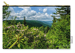 Carry-all Pouch featuring the photograph Mountain Laurel And Ridges by Thomas R Fletcher
