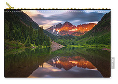 Carry-all Pouch featuring the photograph Mountain Light Sunrise by Darren White