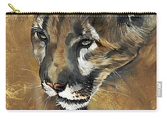Mountain Lion - Guardian Of The North Carry-all Pouch by J W Baker