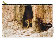 Mountain Lion In The Desert Carry-all Pouch