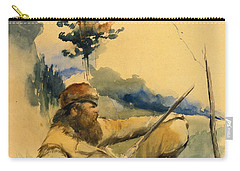 Mountain Man Carry-all Pouch by Charles Schreyvogel