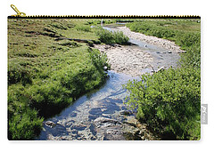 Mountain Meadow And Stream Carry-all Pouch by Quin Sweetman