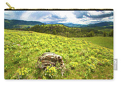 Mountain Meadow Impressionist Digital Art Carry-all Pouch