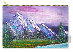 Mountain Meadow Landscape Scene Carry-all Pouch