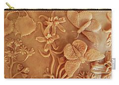 Mountain Meadow Original Clay Relief - Checkerspot Butterfly Detail Carry-all Pouch