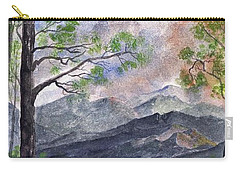 Carry-all Pouch featuring the digital art Mountain Morning by Terry Cork