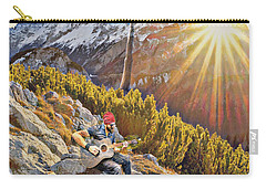 Carry-all Pouch featuring the mixed media Mountain Of The Lord by Jessica Eli