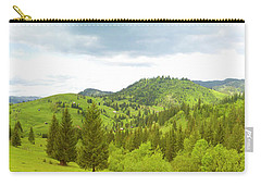 Mountain Panorama In Bucovina County - Romania Carry-all Pouch by Vlad Baciu