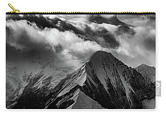 Mountain Peak In Black And White Carry-all Pouch