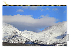 Carry-all Pouch featuring the photograph Mountain Peaks - Panorama by Shane Bechler