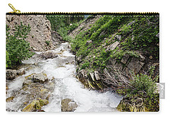 Carry-all Pouch featuring the photograph Mountain River by Margaret Pitcher
