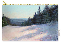Carry-all Pouch featuring the painting Mountain Stillness by Vikki Bouffard