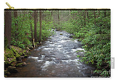 Carry-all Pouch featuring the photograph Mountain Stream Laurel by John Stephens