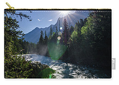 Carry-all Pouch featuring the photograph Mountain Sunburst by Margaret Pitcher