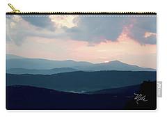 Blue Ridge Mountain Sunset Carry-all Pouch by Meta Gatschenberger
