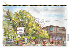 Mountain View Barbeque In Walker, California Carry-all Pouch by Carlos G Groppa