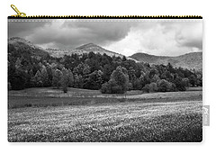 Mountain Wildflowers In Black And White Carry-all Pouch