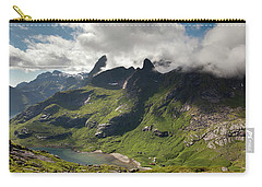 Mountain With Horns From Brunakseltind Carry-all Pouch by Aivar Mikko