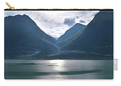Mountains Along Lustrafjorden Carry-all Pouch