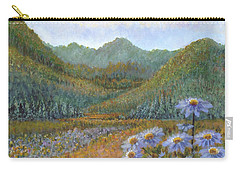 Mountains And Asters Carry-all Pouch by Holly Carmichael