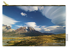 Mountains And Clouds In Patagonia Carry-all Pouch