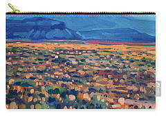 Carry-all Pouch featuring the painting Mountains And Mesas by Donald Maier