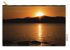 Mountains And River At Sunset Carry-all Pouch