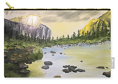 Mountains And Stream Carry-all Pouch