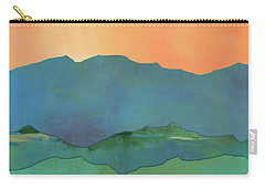 Mountains At Sunrise Carry-all Pouch by Jacquie Gouveia