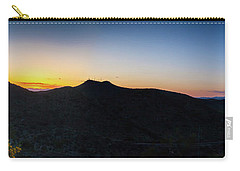 Mountains At Sunset Carry-all Pouch by Ed Cilley
