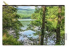 Carry-all Pouch featuring the photograph Mountains, Lake And Trail by Kerri Farley