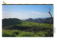 Carry-all Pouch featuring the photograph Mountains To Valley View by Matt Harang