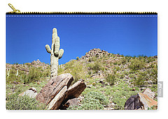 Mountainside Cactus 2 Carry-all Pouch by Ed Cilley