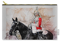 Mounted Household Cavalry Soldier On Guard Duty In Whitehall Lon Carry-all Pouch