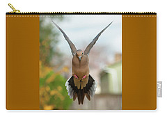 Carry-all Pouch featuring the photograph Mourning Dove Hover Mode by Jim Moore