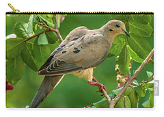 Mourning Dove In Crepe Myrtle Carry-all Pouch