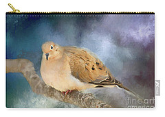 Carry-all Pouch featuring the photograph Mourning Dove Of Winter by Darren Fisher