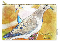 Mourning Dove Pair Poster Image Carry-all Pouch by A Gurmankin