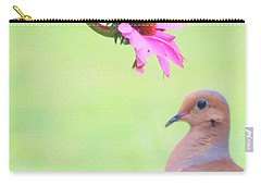 Carry-all Pouch featuring the photograph Mourning Dove by Sue Collura