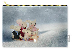 Mouse In Snow Carry-all Pouch by Heike Hultsch