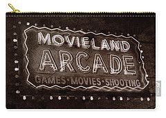 Carry-all Pouch featuring the photograph Movieland Arcade - Gritty by Stephen Stookey