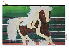Carry-all Pouch featuring the painting Moving Horse by Donald J Ryker III