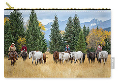 Moving The Herd Carry-all Pouch by Jack Bell