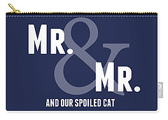 Mr And Mr And Cat Carry-all Pouch