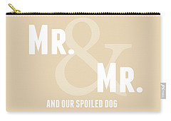 Mr And Mr And Dog- Sand Carry-all Pouch