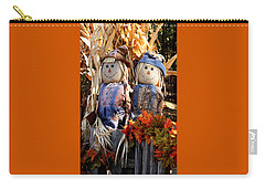 Carry-all Pouch featuring the photograph Mr. And Mrs. Scarecrow by Sheila Brown