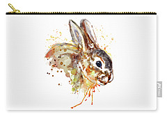 Carry-all Pouch featuring the mixed media Mr. Bunny by Marian Voicu