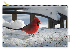 Mr. Cardinal Carry-all Pouch by Melissa Messick