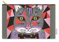 Mr Cat Carry-all Pouch by Kathleen Sartoris