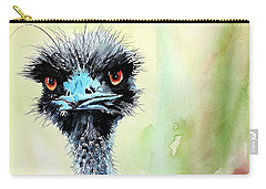 Carry-all Pouch featuring the painting Mr. Grumpy by Tom Riggs